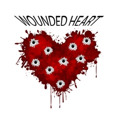 Wounded heart vector