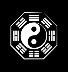 Yin-yang duality and ba-gua 8 trigrams vector