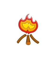 Campfire icon in cartoon style vector image