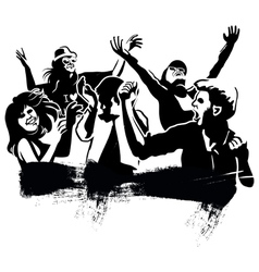 Dancing group vector image vector image