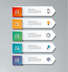 infographic arrow template with 5 options vector image