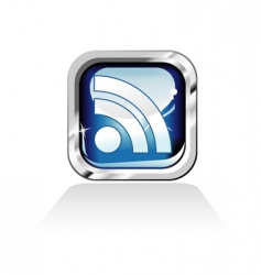 RSS feed icon vector image vector image