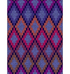 Seamless Ornamental Knitted Pattern vector image vector image