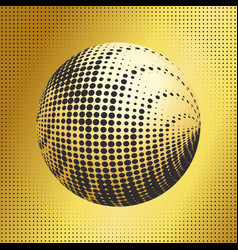 Set abstract halftone 3d spheres 38 vector