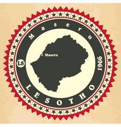 Vintage label-sticker cards of Lesotho vector image vector image