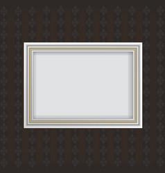 Antique white frame vector image
