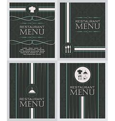 Set of restaurant menu design cover template in vector