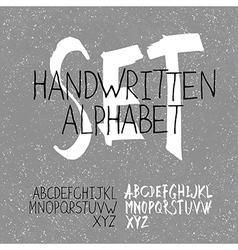alphabet set handwritten vector image vector image