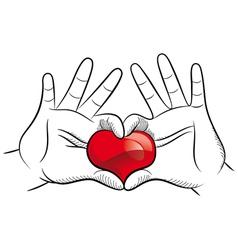 Love hands vector image vector image