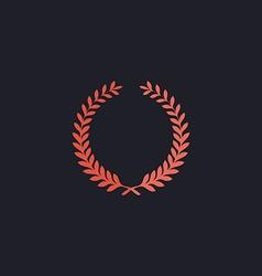 Wreath computer symbol vector