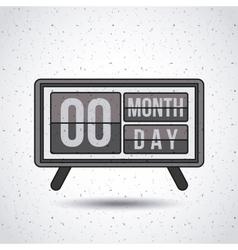 calendar digital isolated icon design vector image
