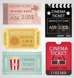 Cinema Tickets Set vector image