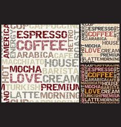 coffee words pattern vector image vector image