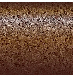 hand draw ornate chocolate dark ornate floral back vector image vector image