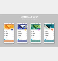 Material UI screens mockup kit vector image vector image