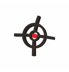 Polygraphic target icon cartoon style vector image