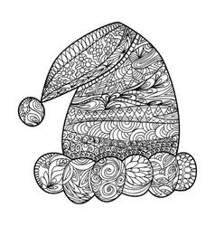 Santa Claus hat zendoodle design element vector image