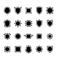 Shield set 2 vector image
