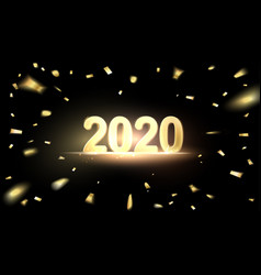 2020 new year background holiday label vector image