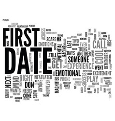 After the first date text word cloud concept vector