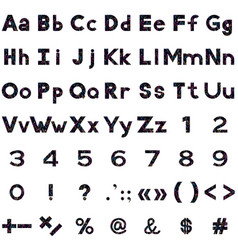 Alphabet numbers and signs serpentines vector