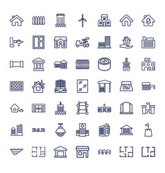 Architecture icons vector