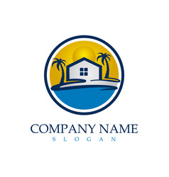 beach real estate logo vector image
