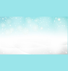 beautiful abstract snowy bokeh background vector image