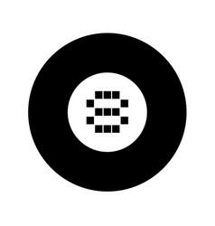 black eight ball symbol vector image