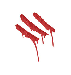 bloody fingerprint with streaks vector image