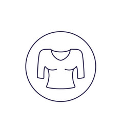 Blouse line icon vector