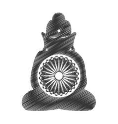 Buddha india culture icon vector