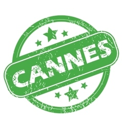Cannes green stamp vector