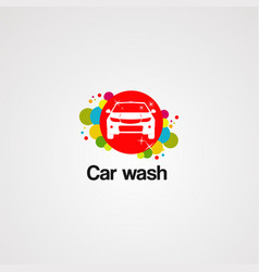 car wash logo colorful concept iconelement and vector image