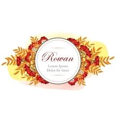Card with rowan vector