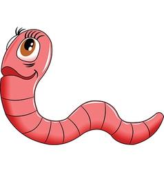 Cartoon worm vector