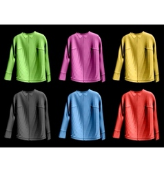 Collection colorful of jaket vector