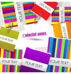 Colorful little notes on white background with spa vector