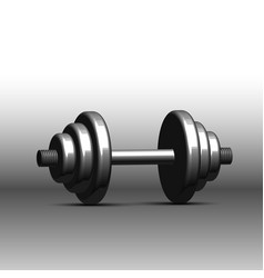 dumbbell isolate on white background vector image