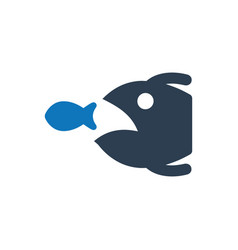 Eliminate business rival fishing icon vector
