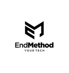 em logo vector image