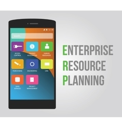 Erp - enterprise resource planning vector