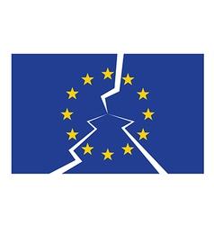 eu flag cracked vector image