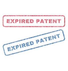 Expired patent textile stamps vector