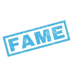 Fame Rubber Stamp vector