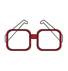 Flat line glasses design vector