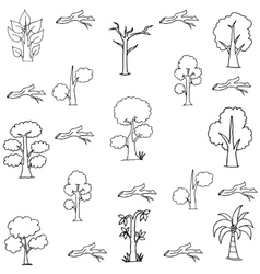 flat of tree set vector image