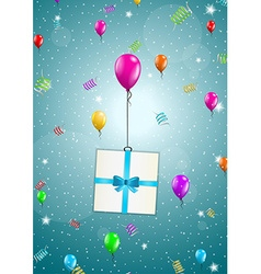 Flying balloons with present vector
