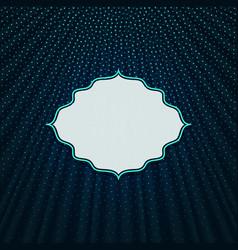 frame on a blue textile background vector image