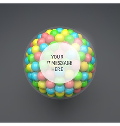 Frame with place for text sphere 3d composition vector